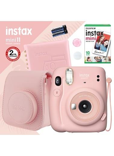 Fujifilm Instax mini 11 Pembe Fotoğraf Makinesi ve Kare Albümlü Hediye Seti 22 Pembe
